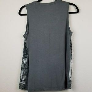 Dantelle Tops - Dantelle gray sequin palm tree tank top